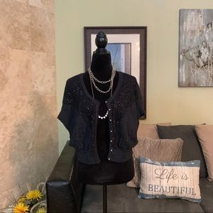 FREE PEOPLE | Sequin Button Down Cardigan